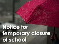 Notice for temporary closure of school