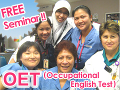FREE Seminar about the OET (Occupational English Test)